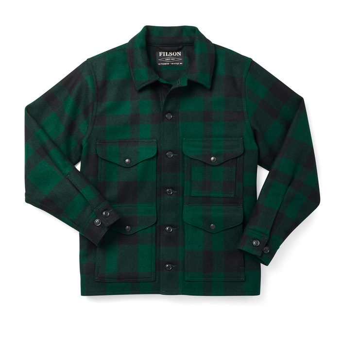 1920s Men's Workwear, Casual Clothes Mackinaw Wool Cruiser Jacket $495.00 AT vintagedancer.com