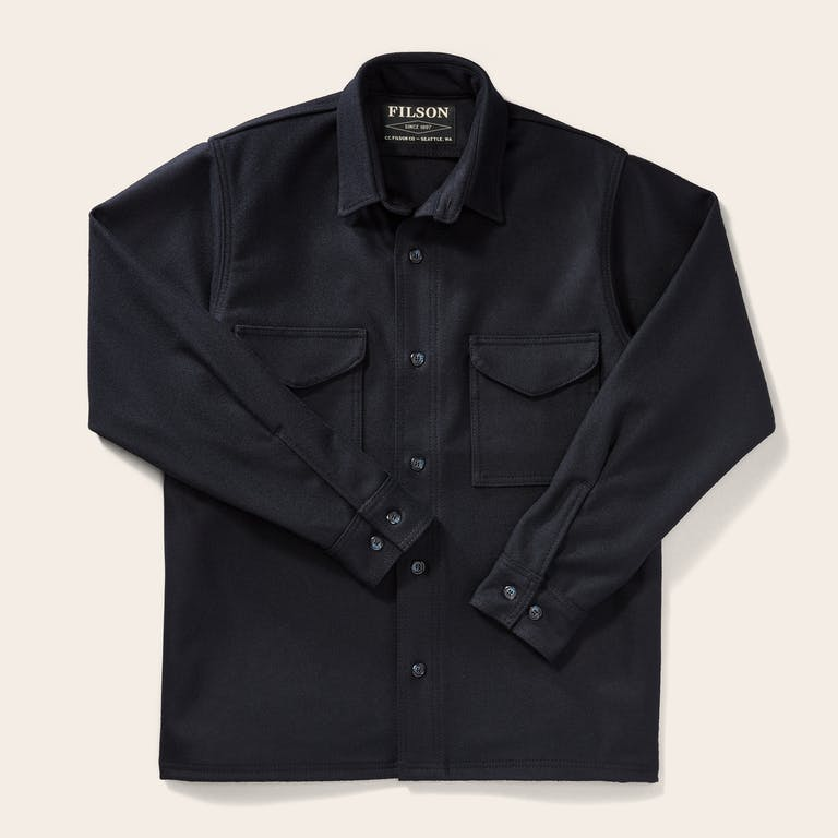 Discover the Filson Classic Jac-Shirt. Our warm, rain-repellent overshirt is made with 100% virgin wool and has hidden pocket buttons to prevent snagging.