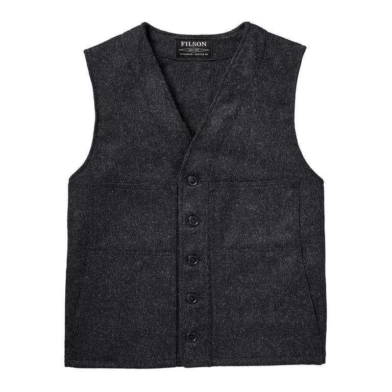 Discover the Filson Mackinaw Wool Vest. Our classic wool vest is made with 100% virgin Mackinaw Wool and cut roomy for easy layering in all seasons
