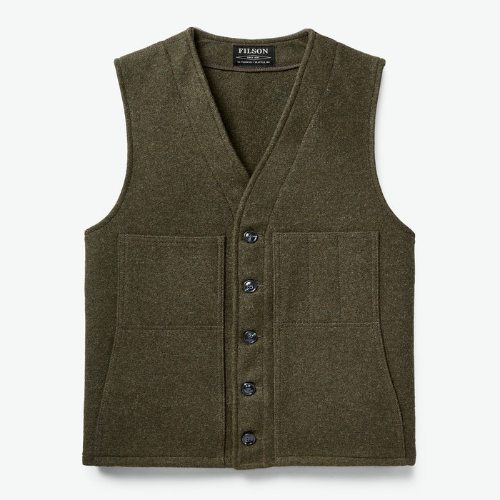 1920s Men's Clothing Mackinaw Wool Vest $150.00 AT vintagedancer.com