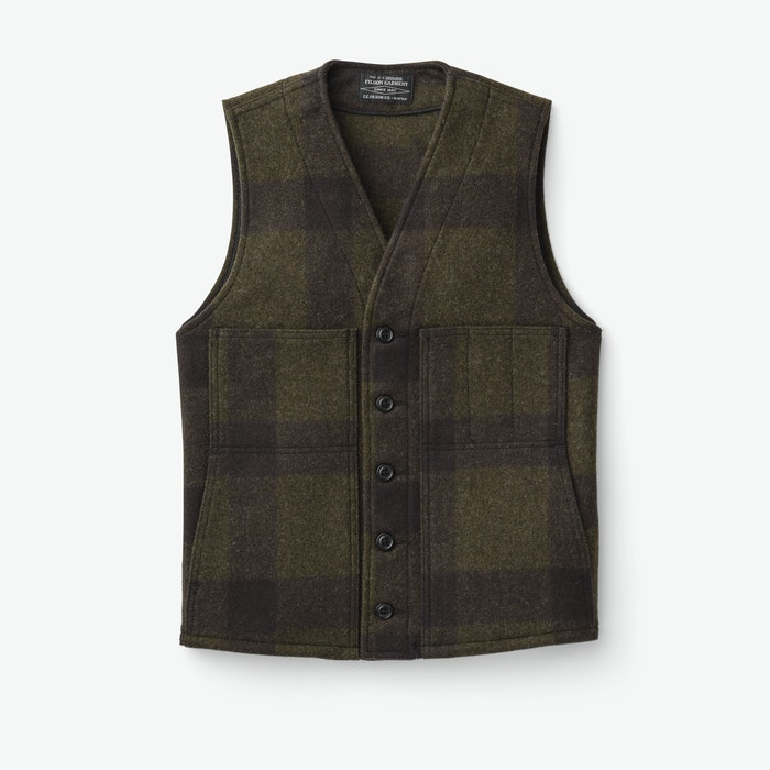 1920s Style Mens Vests Mackinaw Wool Vest $150.00 AT vintagedancer.com