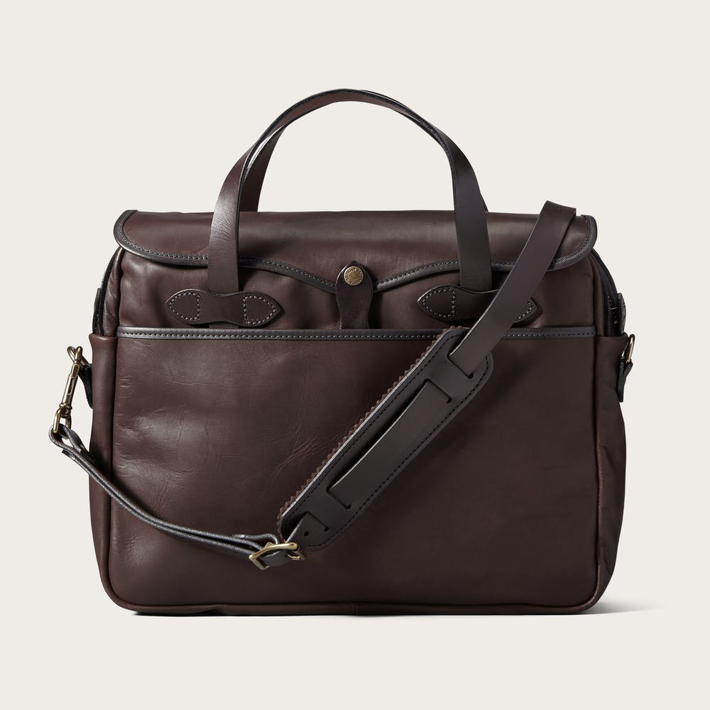 weatherproof leather briefcase soft rugged filson