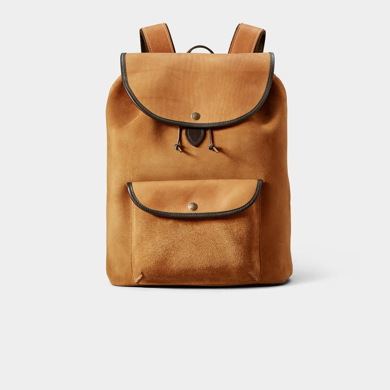 Rugged Suede Backpack