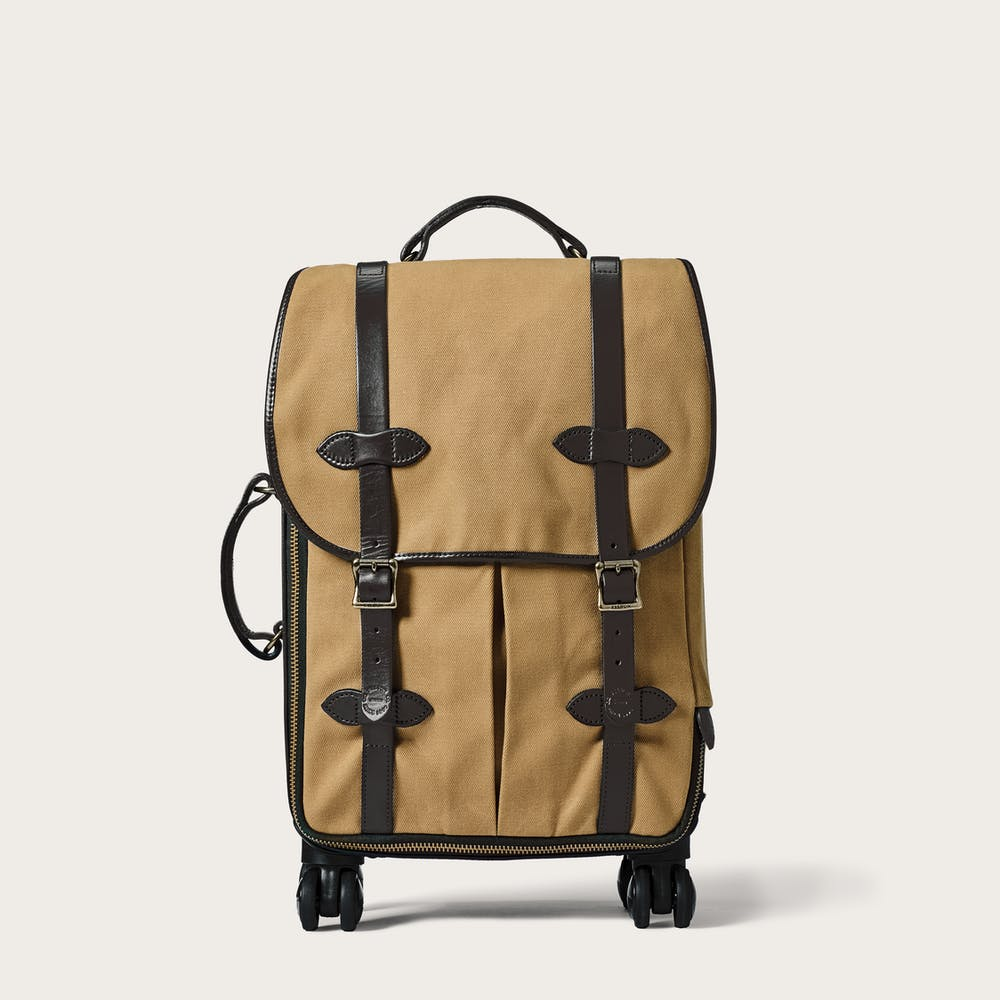 f71e0d61b3cb Rugged Twill Rolling 4-Wheel Carry-On Bag