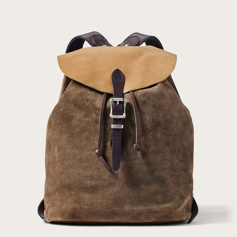 2154537a7bb0 Small Rugged Suede Backpack