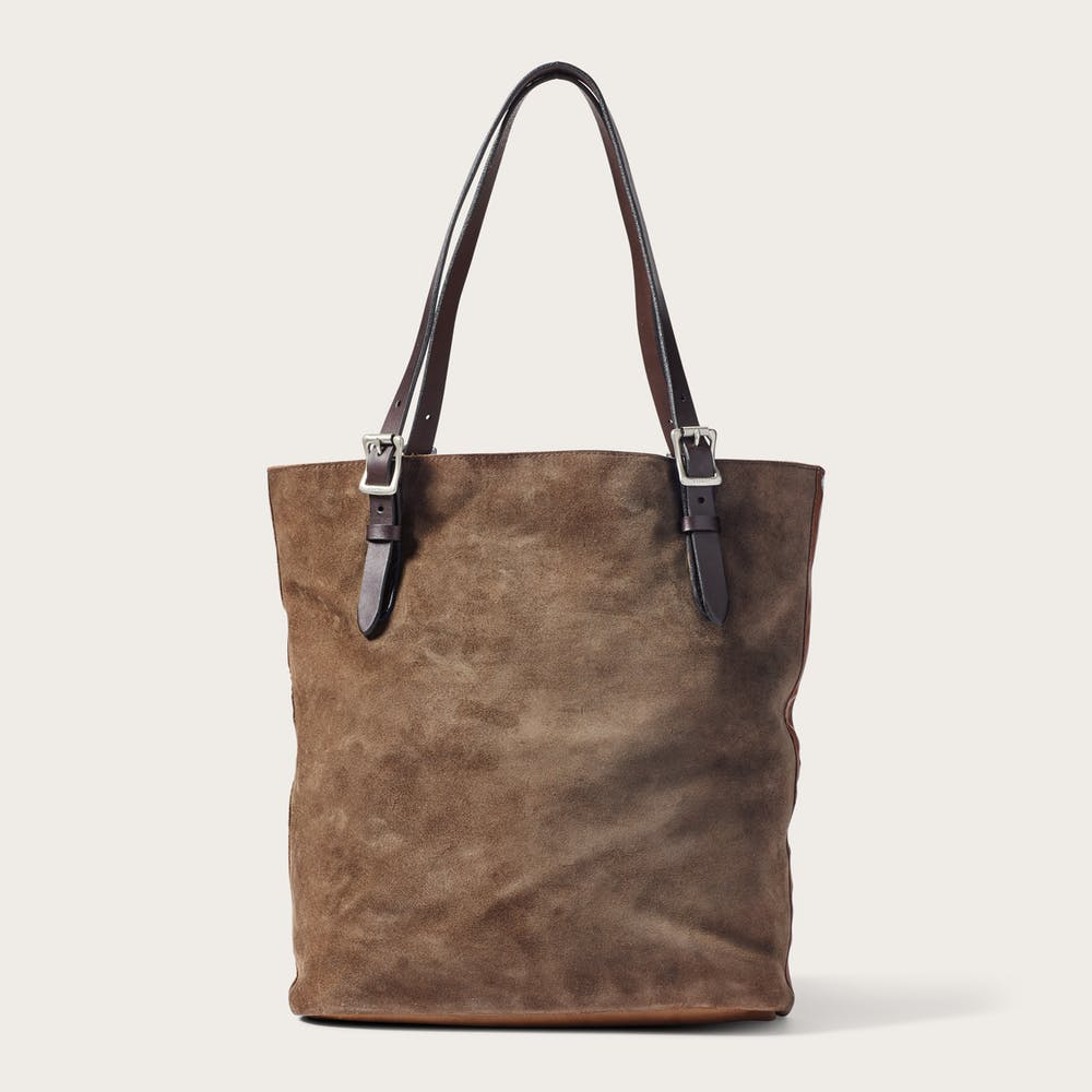 Tall Rugged Suede Tote Bag Main