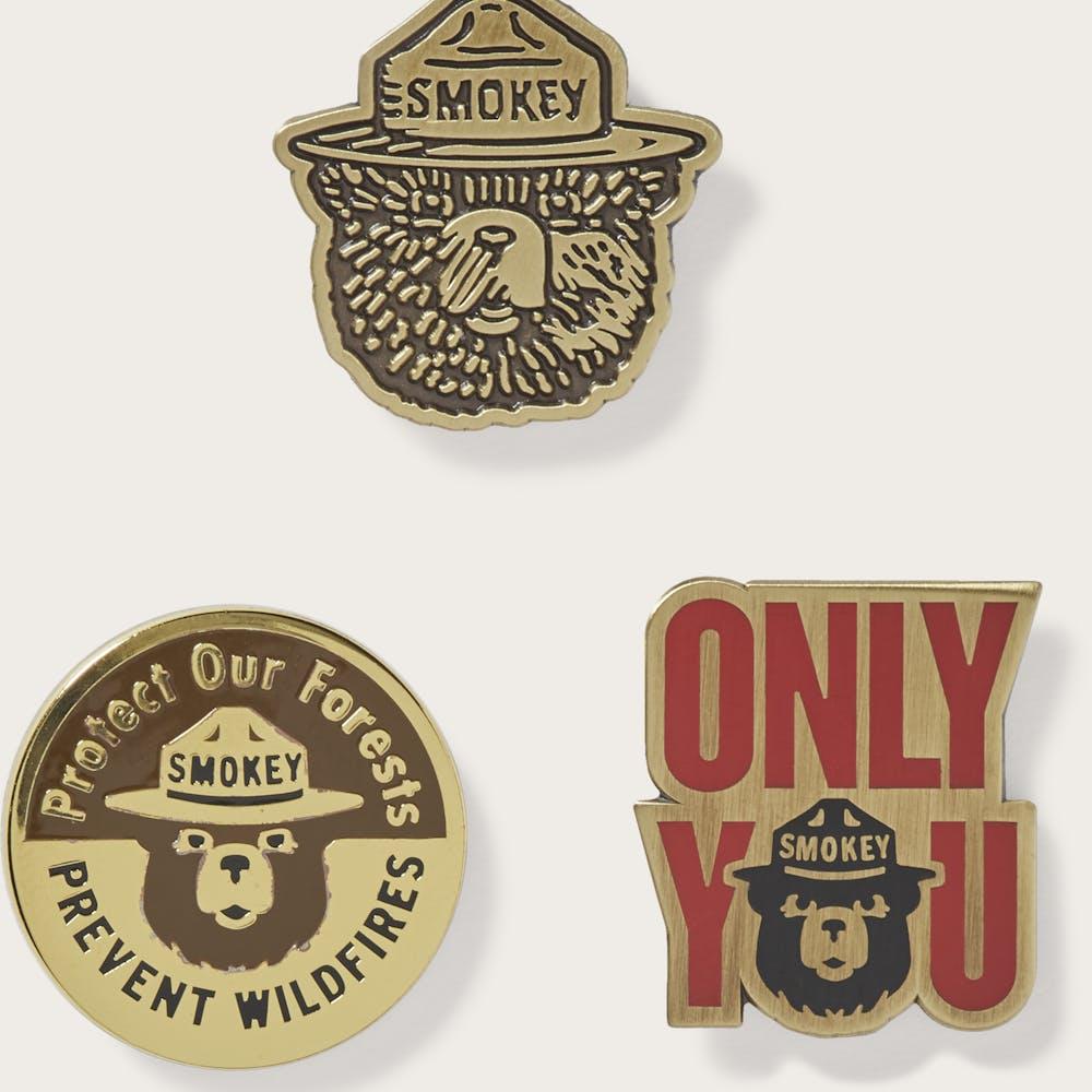Smokey Bear Enamel Pin Set